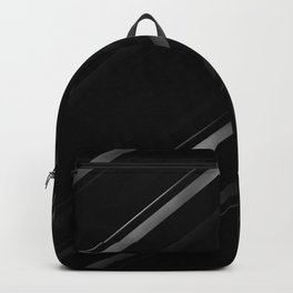 Minimalist Black Linear Abstract Print Backpack
