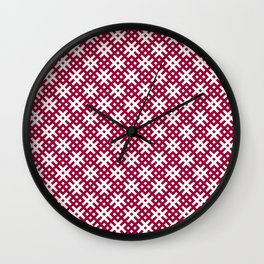 Ancient Latvian oak sign pattern Wall Clock