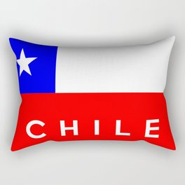 Chile country flag name text Rectangular Pillow