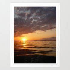 Sunset Swirl Art Print
