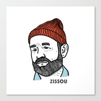 zissou Canvas Prints featuring Zissou by Daniel Feldt
