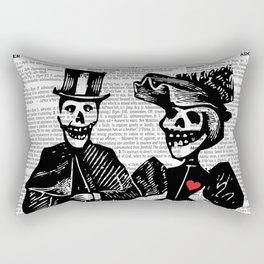 Calavera Couple Rectangular Pillow