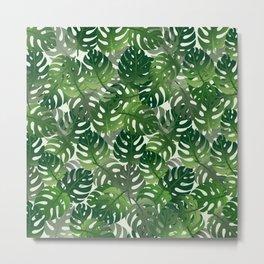 Exotic Palm Leaf Pattern Metal Print