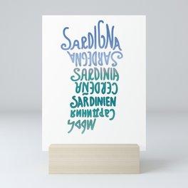 Sardegna, languages Mini Art Print
