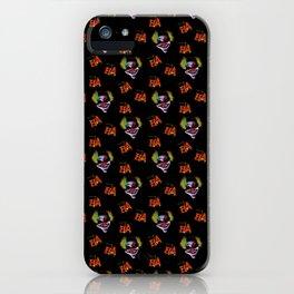 Halloween Horrorclown Pattern iPhone Case