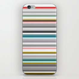 grey and colored stripes iPhone Skin