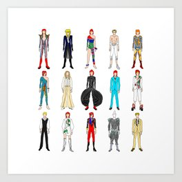 Retro Vintage Fashion 1 Art Print
