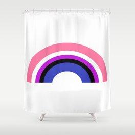 Genderfluid Rainbow Shower Curtain