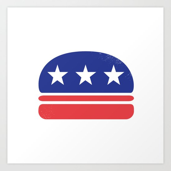 I Vote for Burger! Art Print