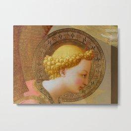 "Fra Angelico (Guido di Pietro) ""Annunciation"" (Prado) detail 2 Metal Print"