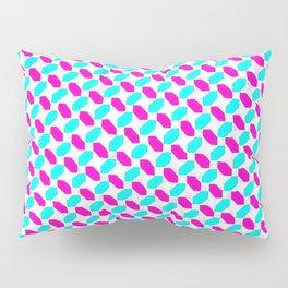 Inverted Pink & Light Blue Diamonds Pillow Sham