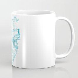 3D Glasses: Blue Heart Coffee Mug