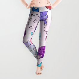 Space Cats Pattern Leggings
