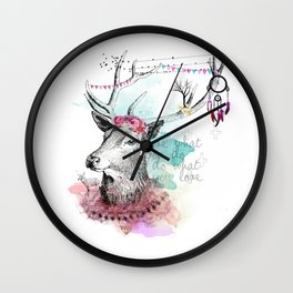 Love what you are Wall Clock