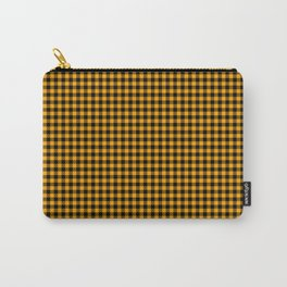Mini Orange and Black Cowboy Buffalo Check Carry-All Pouch