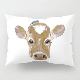 Bluebird Cow Pillow Sham