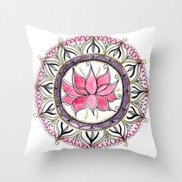 Lotus beauty Throw Pillow