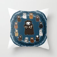 thorin Throw Pillows featuring Dwarpacas(Thorin) by Lady Cibia