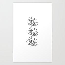 Rose Noire Art Print