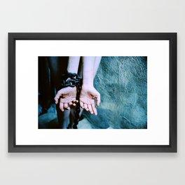 cracked and bruised. Framed Art Print