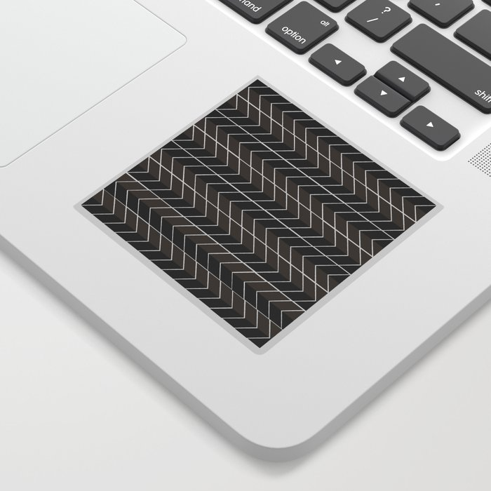 Non-conformist Black Chevron Pattern #society6 Sticker