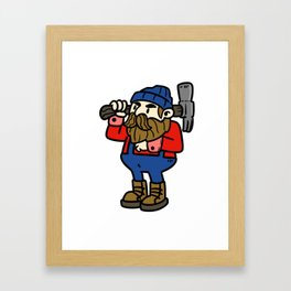 carpenter wood gift joiner craftsman job Framed Art Print