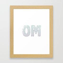 OM - Teal To Purple Palette Framed Art Print