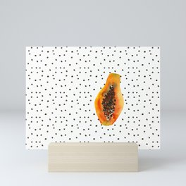 Papaya vibes Mini Art Print