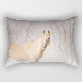 Champ in the snow Rectangular Pillow
