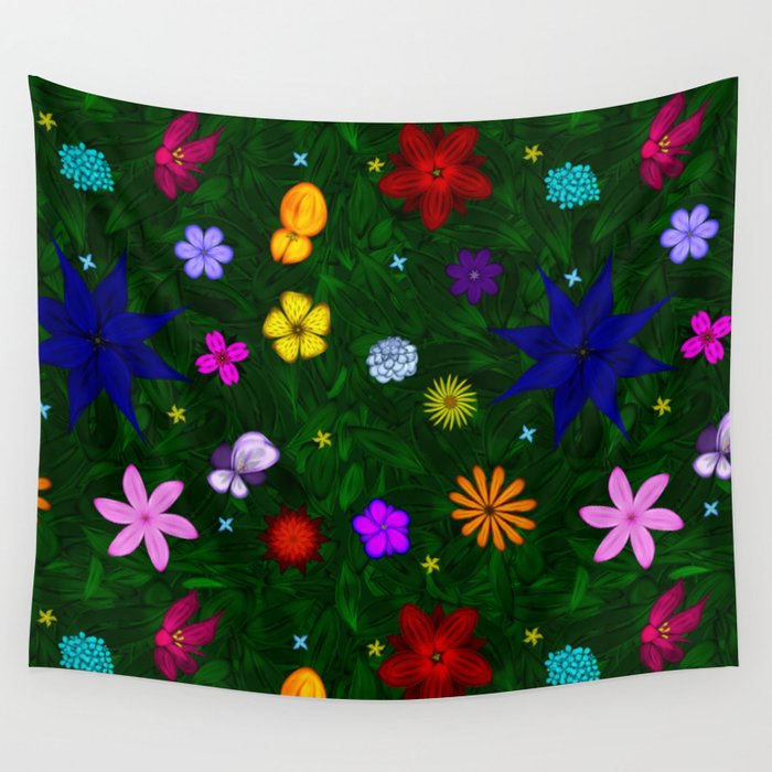 Flying Above the Garden Wall Tapestry