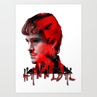 hannibal Art Prints featuring HANNIBAL by PositIva