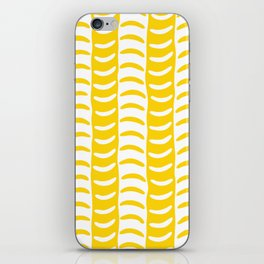 Wavy Stripes Yellow iPhone Skin