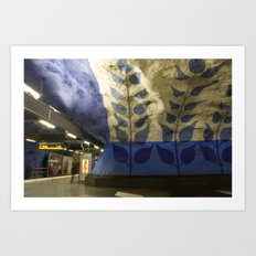 T-centralen tunnelbana station, Stockholm Art Print