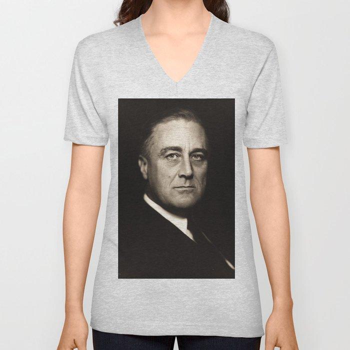 Franklin D. Roosevelt, about 1932 Unisex V-Neck