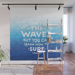 Learn to Surf Wall Mural