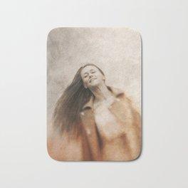 Woman smile Bath Mat