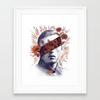 hero Framed Art Prints featuring Hero by YONIL