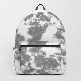 Soft Gray Tie-Dye Backpack