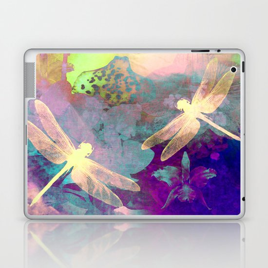 Painting Dragonflies and Orchids A Laptop & iPad Skin