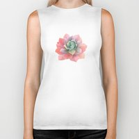 succulents Biker Tanks featuring succulents by NuroNuro