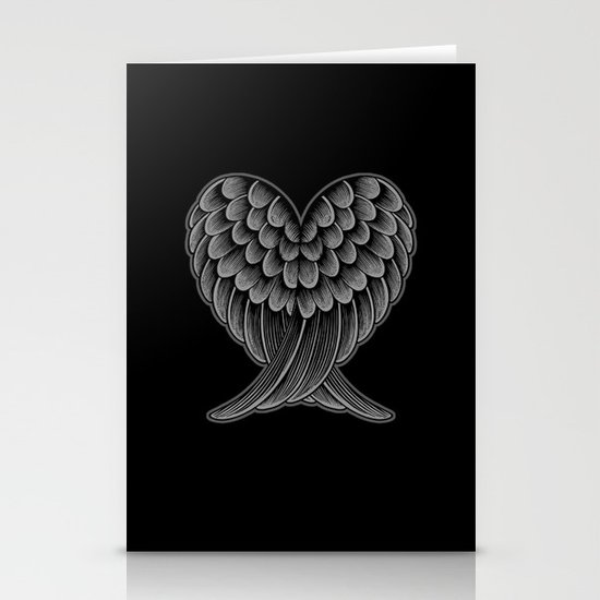 Heart Wings [Reversed Version] Stationery Cards