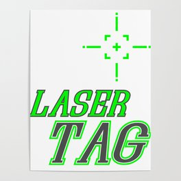 Funny Laser Tag Party T-Shirt Mode On Laser tag Poster