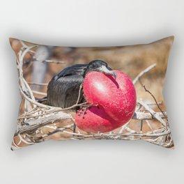 Frigatebird bird of Galapagos Rectangular Pillow