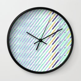 Green Drops of Time Wall Clock