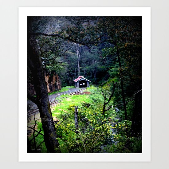 Walhalla Train Depot (Restored) Art Print