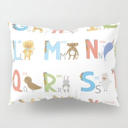 Animals Alphabet Pillow Sham
