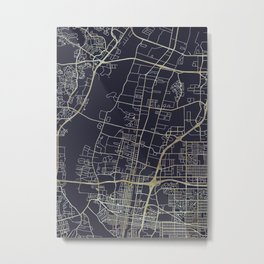 Albuquerque Map New Mexico Metal Print