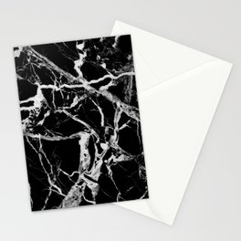 Black marble pattern Stationery Cards