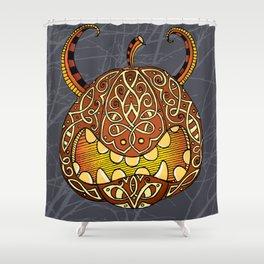 Celtic Halloween pumpkin Shower Curtain