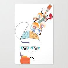 Art On The Brain Canvas Print